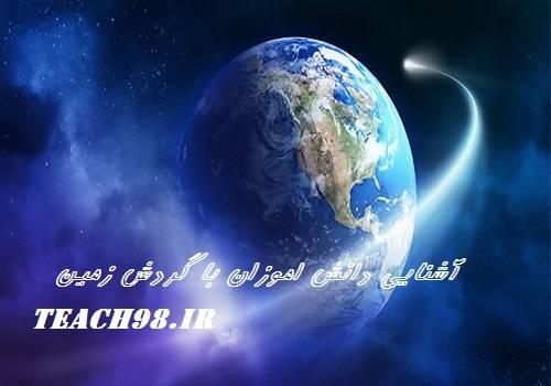 آشنایی دانش اموزان با گردش زمین